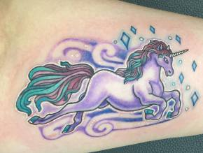 Unicorn Tattoo April 29
